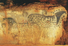(1-1) Spotted Horses and Human Hands  Pech-Merle Cave  Horses: 25,000-24,000 BCE Hands:15,000 BCE
