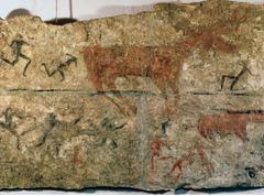 (1-17) Men Taunting a Deer?  Catalhöyük, Turkey 6,000 BCE