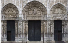 16-17 ROYAL PORTAL, WEST FAÇADE, CHARTRES CATHEDRAL (Gothic art, 1150-1400)