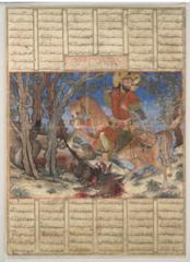 189. Bahram Gur Fights the Karg