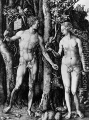 74. Adam and Eve Location:  Artist: Albrecht Dürer Date: 1504 C.E. Culture: Period/Style: Medium/Material: Engraving Theme(s): Form:  Function:  Content: Context: Cross Cultural Connection(s):
