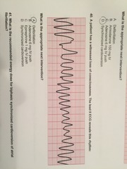 A patient has a witnessed loss of consciousness. The lead II ECG reveals this rhythm:  What is the appropriate next intervention?