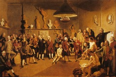 Academicians of the Royal Academy by Johan Zoffany, 1771-1772