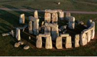 Aerial of stonehenge, Salisbury Plain, Whiltshire, England