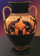 Ajax and Achilles Playing Dice, Exekias, 540-530 BC,Greek