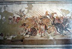 Alexander Mosaic from the HOuse of Faun, Pompeii. Republican Roman. c. 100 bce. mosaic