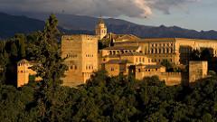 Alhambra. Granada, Spain. Nasrid Dynasty. 1354-1391 whitewashed adobe