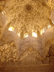 Alhambra,Hall of the Two Sisters,1354-1391,Granada,Spain,Islamic Art