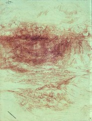 Alpine Storm Drawing by Leonardo Da Vinci  1500