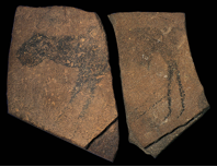 Animal facing left, from the Apollo 11 Cave, Namibia