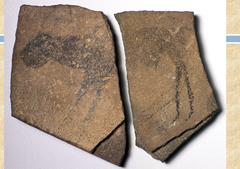 Apollo 11 stones, Namibia. 25,500-25,300 bce charcoal on stone
