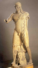 Apollo from Veii, 510 BC, terra-cotta,Etruscan Art