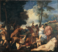 Bacchanal of the Andrians by Titian  1520-1523