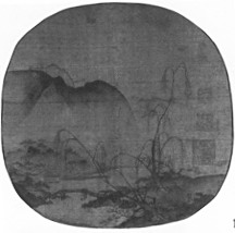 Bare Willows and Distant Mountains,Ma Yuan,12th Century,ink on silk,Chinese Art
