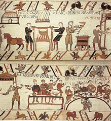 Bayeux Tapestry,1070-1080,embroidery,wool on linen,Romanesque Art