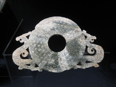 Bi with Dragons,4th-3rd century,nephrite,Chinese Art