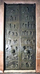 Bishop Bernward Doors,1015,bronze,Ottonian Art