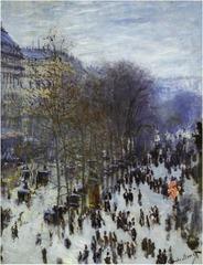 Boulevard des Capucines by Claude Monet, 1873-1874