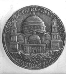 Bronze Medal of St. Peters by  Caradosso.  1506