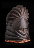 Bundu mask, Sande Society. Mende peoples. west African forests. 19th to 20th century ce. wood, cloth, and fiber