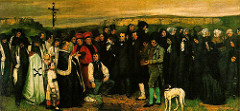 Burial at Organs by Gustave Courbet, 1849