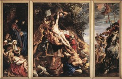 Central panel of Raising of the Cross, Peter Paul Rubens, 1610-1611, Cathedral, Antwerp,Flemish Baroque Art