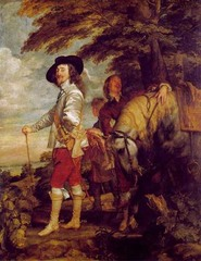 Charles I Dismounted, Anthony Van Dyck, 1635, Louvre, Paris,Flemish Baroque Art