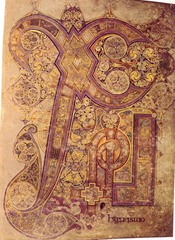 Chi-Rho-Iota Page from the Book of Kells,800,ink on vellum,Hiberno-Saxon Art