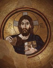 Christ and Pantokrater mosaic (Middle Byzantine)  (Byzantium)