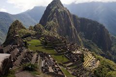 City of Machu picchu. Central highlands, Peru. Inka. 1450-1540 ce. granite