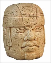 Colossal Head,900-400BC,basalt,Olmec Art