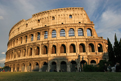Colosseum (Flavian Amphitheater). Rome, Italy. Imperial Roman. 70-80 ce. stone and concrete