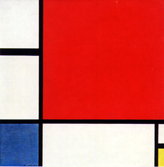 Composition with Red, Blue, and Yellow. Mondrian. 1930. oil on canvas