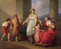 Cornelia, Mother of the Gracchi by Angelica Kauffman, 1785