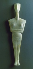 Cycladic Female Figure, c. 2500 B.C.E.,Cycladic Art