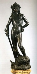 David by Donatello  From the Palazzo Medici in Florence, Italy.  Original bronze 1440-1460