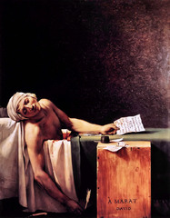 Death of Marat, Jacques-Louis David, Royal Museum, Brussels,Neoclassicism