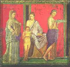 Dionysiac Mystery Frieze, 60-50 BCE, fresco,Roman Art