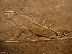 Dying Lioness. Nineveh. Assyrian. c. 650 BCE. Alabaster