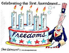 Each of the following is a right guaranteed by the Bill of Rights EXCEPT the right to   1. a jury trial 2. a college education 3. express an unpopular viewpoint 4. organize parades and protests