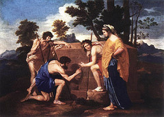 Engraving after Et in Arcadia Ego, Nicholas Poussin, 1655 Louvre, Paris,French Baroque Art
