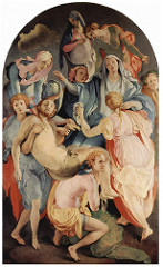 Entombment of Christ. Pontormo. 1525-1528. oil on wood