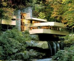 Fallingwater. Pennsylvania. Frank Lloyd Wright. 1936-39. Reinforced concrete, sandstone, steel, and glass
