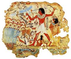 Fowling scene, Tomb of Nebamun (New Kingdom)  (Egypt)