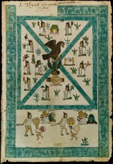 Frontispiece of the Codex Mendoza. Viceroyalty of New Spain. 1541-1542. ink and color on paper