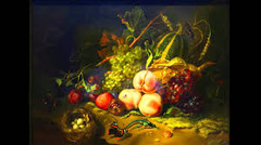 Fruit and Insects Rachel Ruysch. 1711 C.E. Oil on wood This luscious sample of life on Earth represents at least two passions of its time: categorization and still-life, which emphasize the pleasure of the senses and their qualities