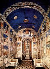 Giotto, Arena Chapel (Scrovegni Chapel), Padua, 1300 - dedicated 1305 (Lamentation, in particular), fresco (Early Renaissance Art)