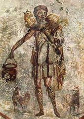 Good Shepherd, 4th Century, fresco,Early Christian Art
