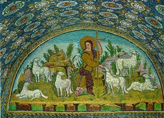 Good Shepherd mosaic from the Mausoleum of Galla Placidia,425, Early Christian Art