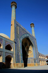 Great Mosque (Masjid-e Jameh) Isfahan, Iran. Islamic, Persian: Seljuk, Il-Khanid, Timurid and Safavid Dynasties. 700 ce. additins and restorations in the 14th, 18th, and 20th centuries ce. stone, brick, wood plaster and glazed ceramic tile
